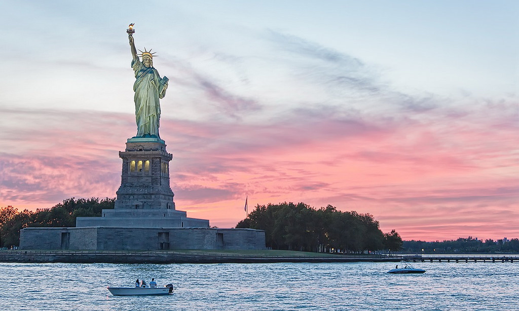 Statue of Liberty - New York City - Sunset by Sam valadi