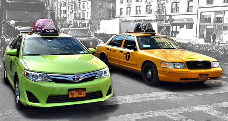 Nova York Taxi Verde e Amarelo